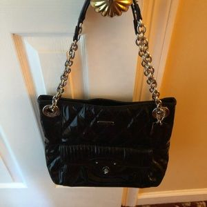 Coach patent leather chain link bag